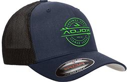 Koloa Surf-Premium Embroidered 34e Flexfit 6511 Truckers Cap