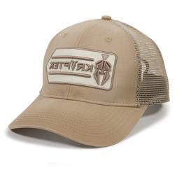 Kryptek Logo Mesh Back Hunting Hat Khaki Trucker Hat