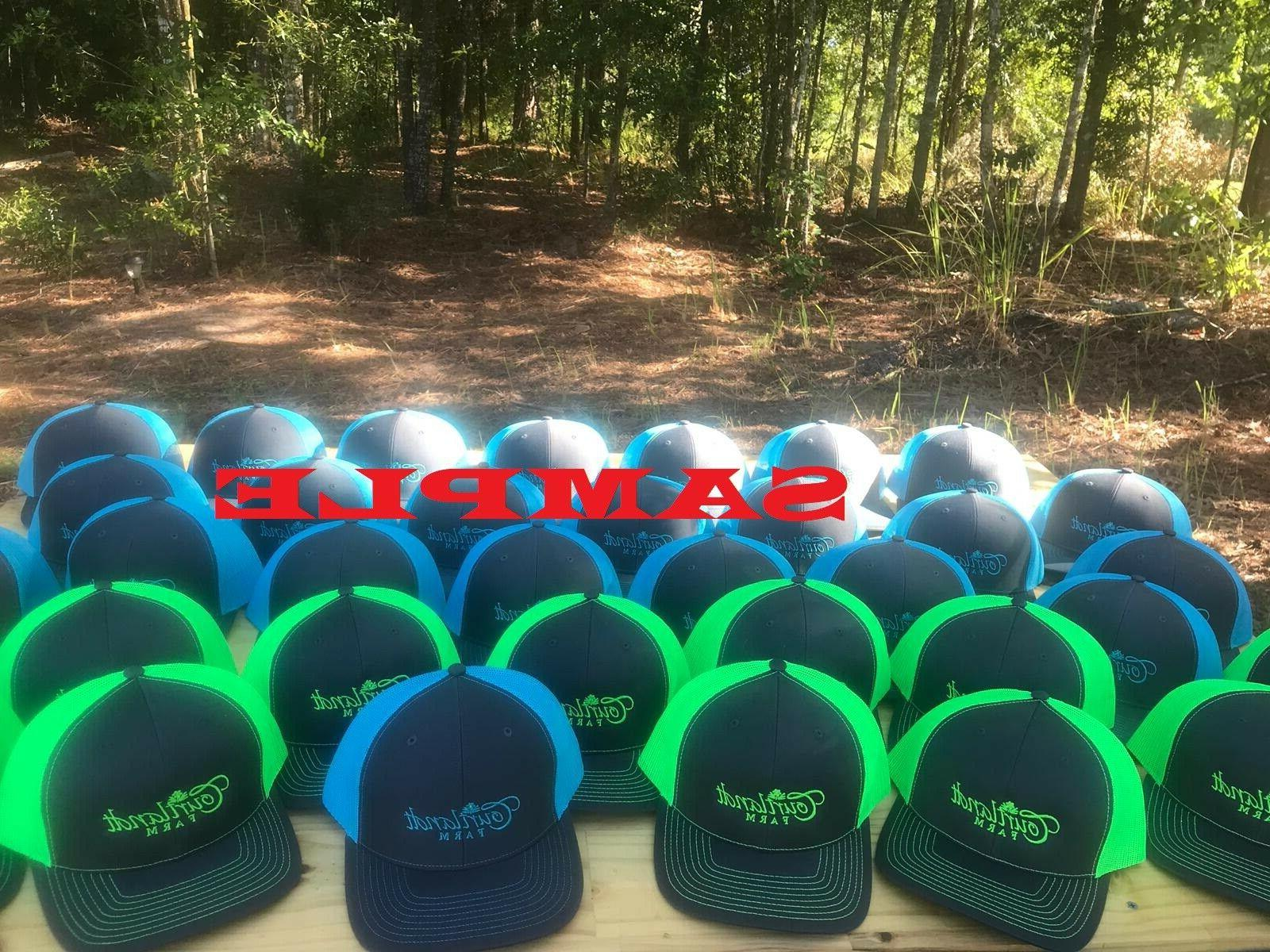 1 Embroidered With Your .. COLORS Trucker Hat