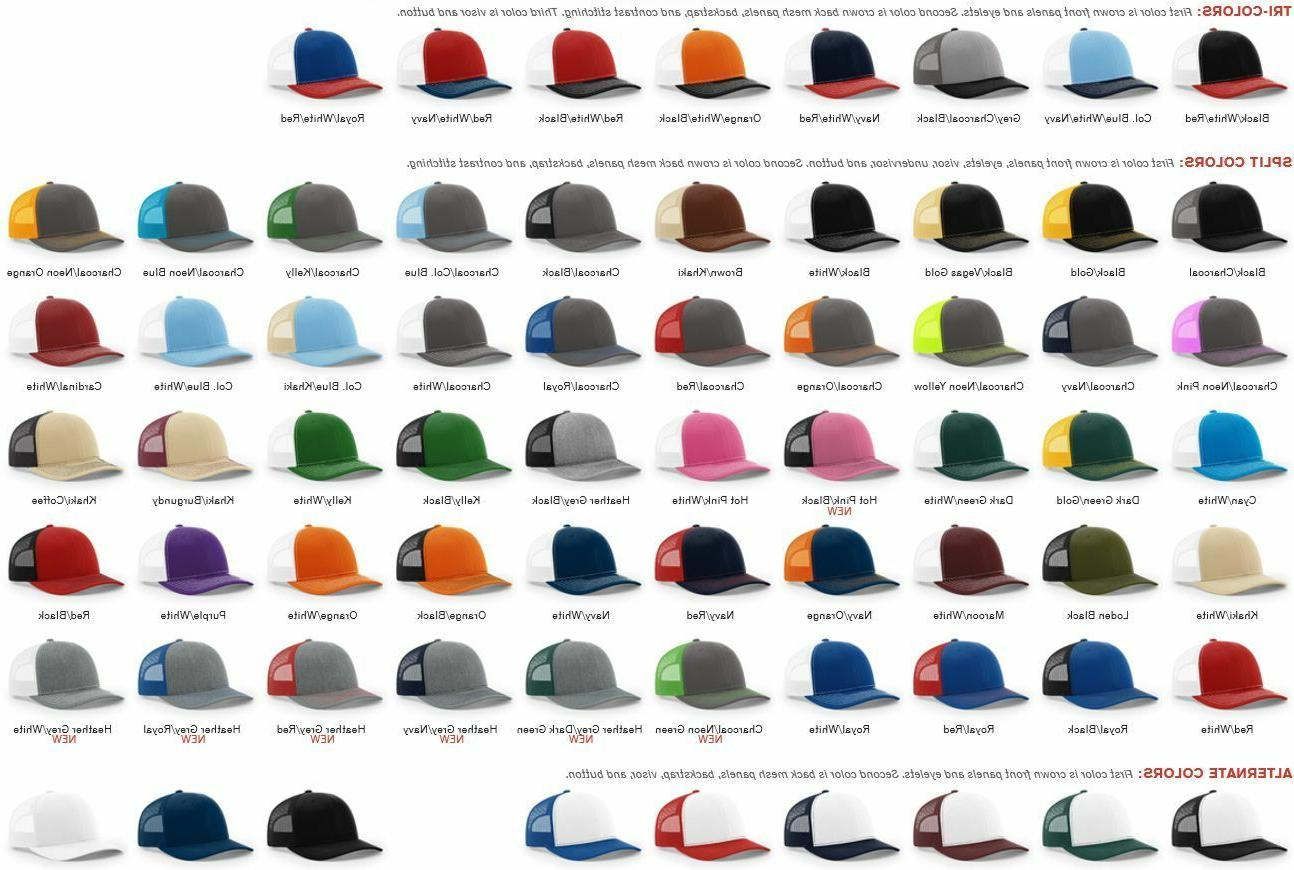 112 trucker cap mesh back hat snap