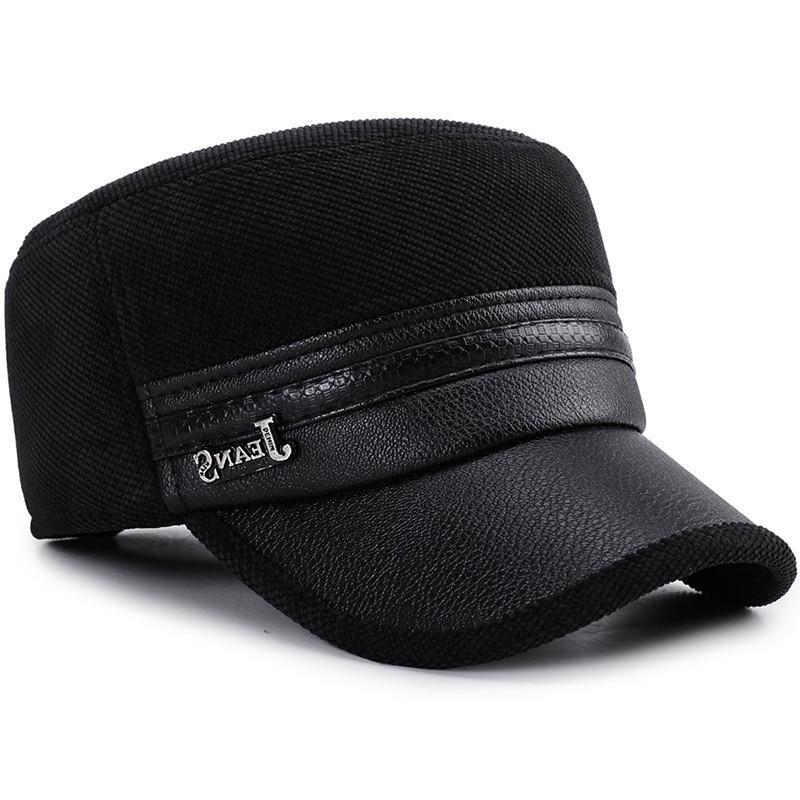 2019 Winter Cap Men Leather <font><b>Baseball</b></font> Dad <font><b>hats</b></font> Cap Men gorras