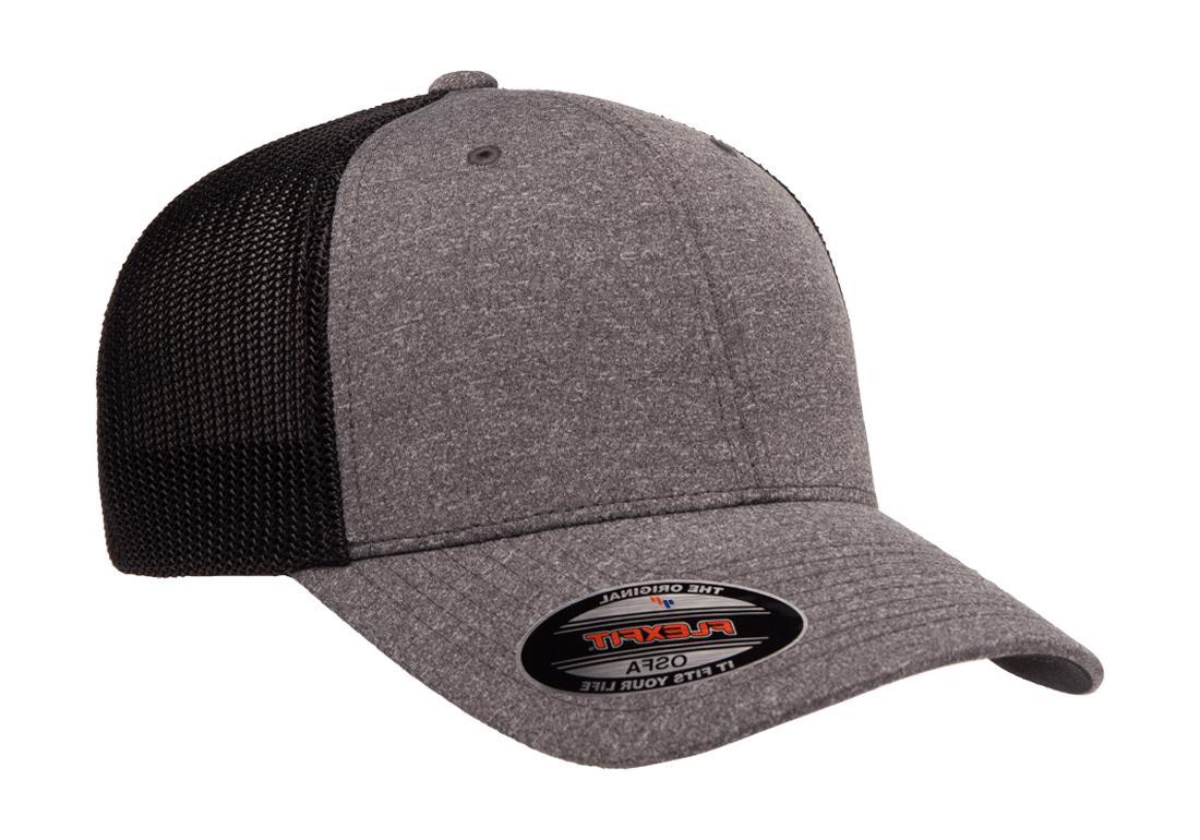 6311 flexfit custom hat melange mesh lids