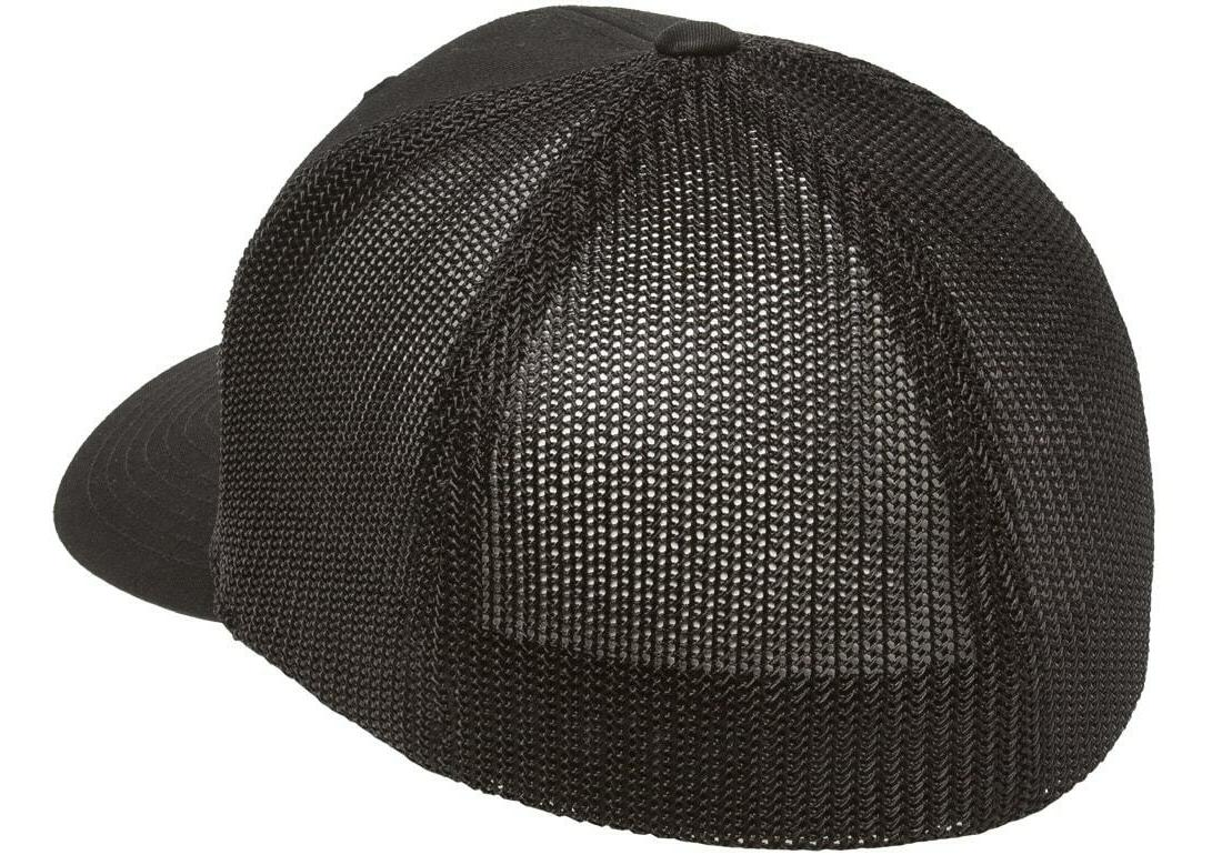 Flexfit Black Fitted Trucker Mesh Hat OSFA