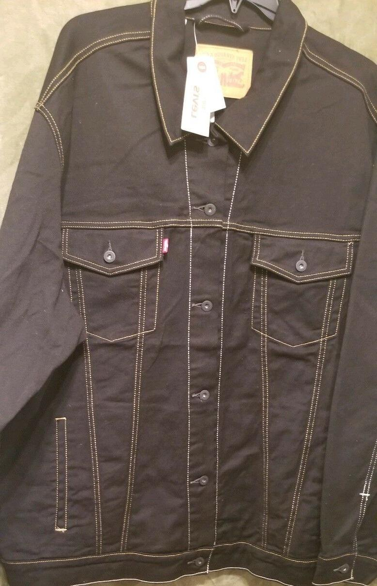 $98.00 TRUCKER JACKET IN STRETCH for Tall