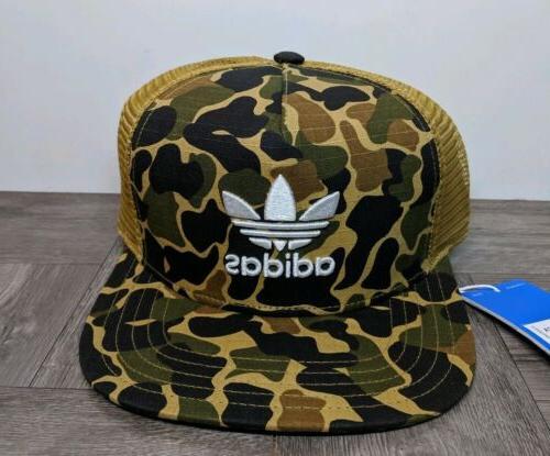 ADIDAS CAMO TRUCKER CAP Multicolor snapback trefoil logo hip