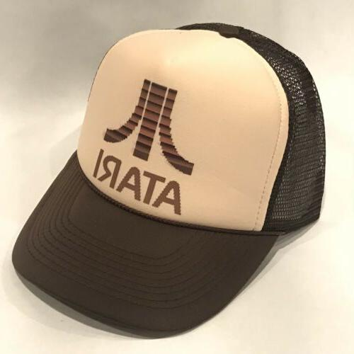ATARI Trucker Hat Old Video Game Logo Vintage Style Snapback