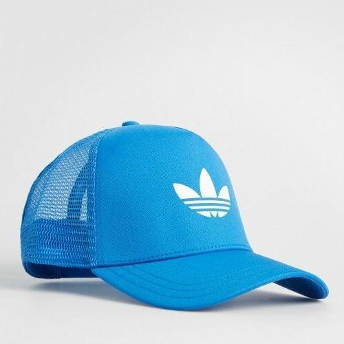 Adidas Originals Trefoil Trucker Cap Hat Snapback Blue AJ895