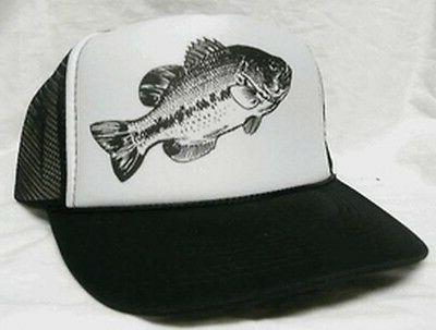 Bass Fish Trucker Hat  mesh hat snapback hat black