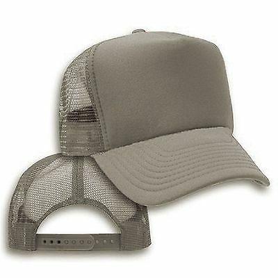 Big Size Gray Trucker Mesh Cap  2XL - 4XL Adjustable BIGHEAD