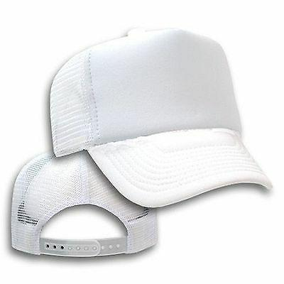Big Size White Trucker Mesh Cap  2XL - 4XL Adjustable BIGHEA