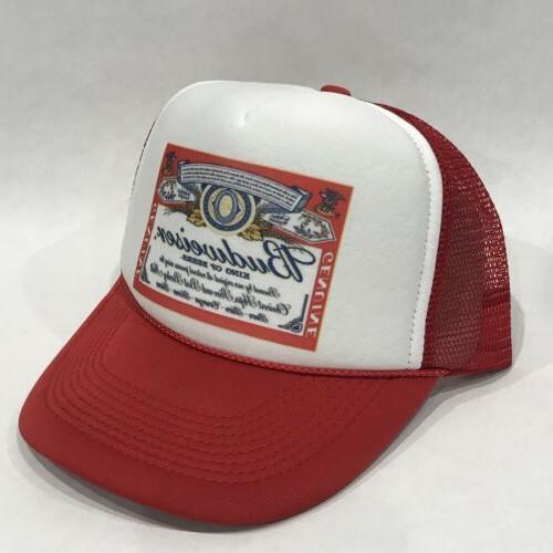 Budweiser King Of Beers Trucker Hat Vintage 80's Mesh Back