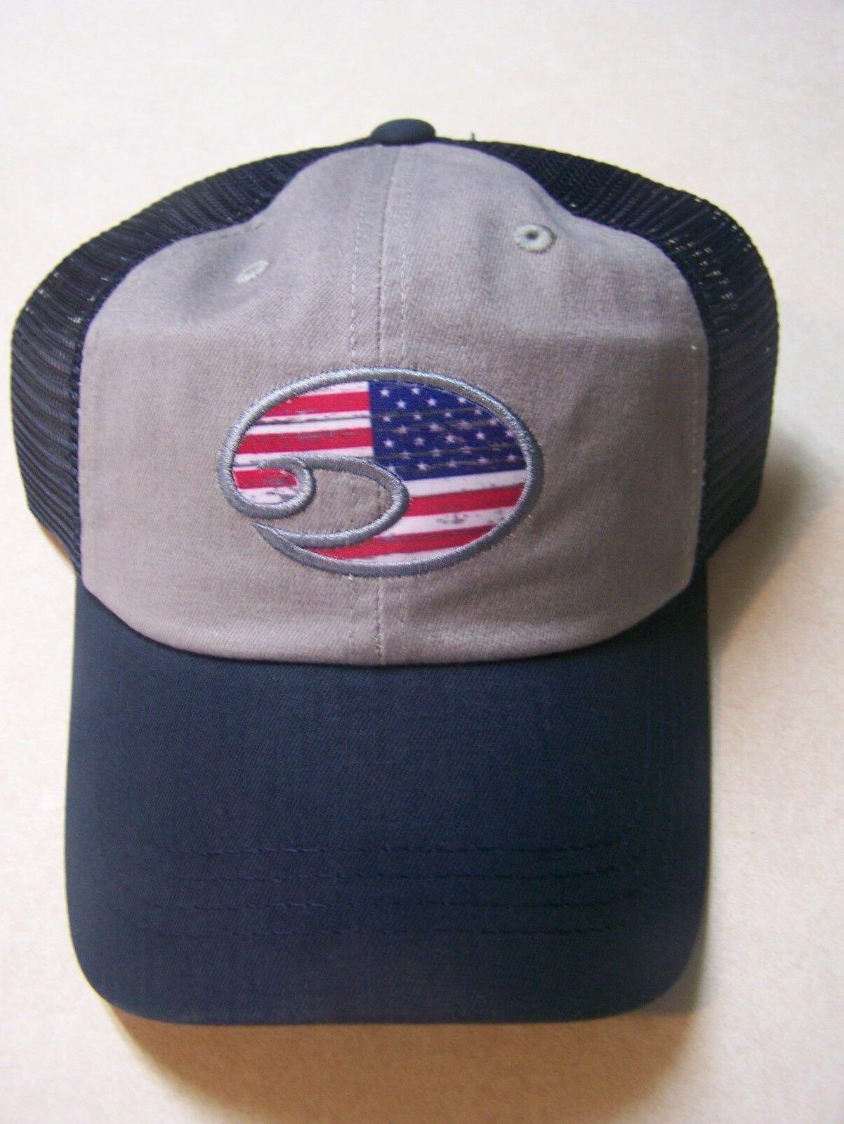 COSTA DEL MAR SUNGLASS United Trucker Hat Adjustable Embroid