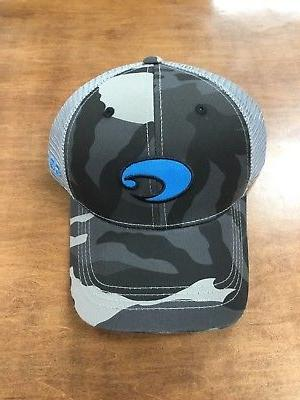 COSTA DEL MAR XL LOGO CAMO TRUCKER HAT BLACK CAMO NEW FOR 20