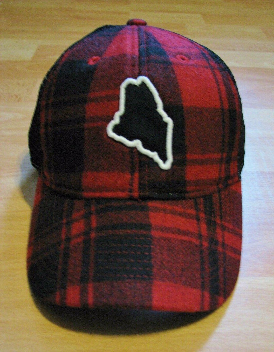 Chowdaheadz Buffalo Plaid Maine Trucker Hat New England Red