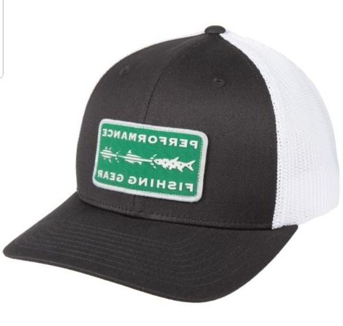 Columbia PFG Mesh Back Trucker Hat Grill Fish Trio Flexfit L