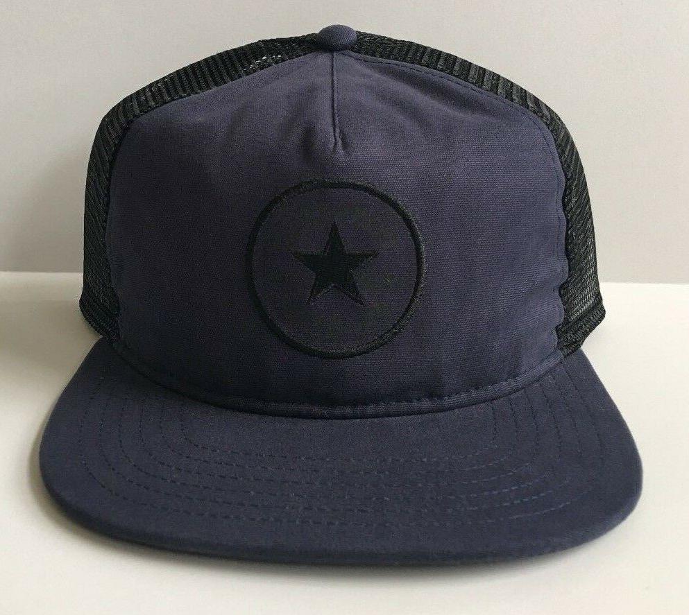 Converse One Star Navy Blue Snapback Trucker Hat Mesh Cons C