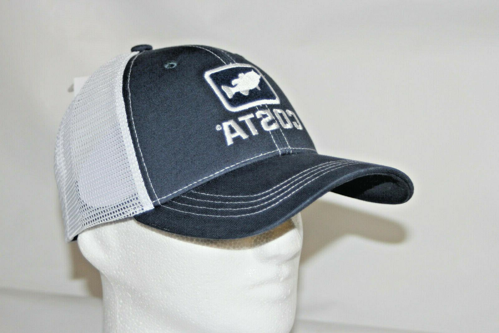 Costa Del Mar Bass Trucker Hat - Navy/ White   NEW