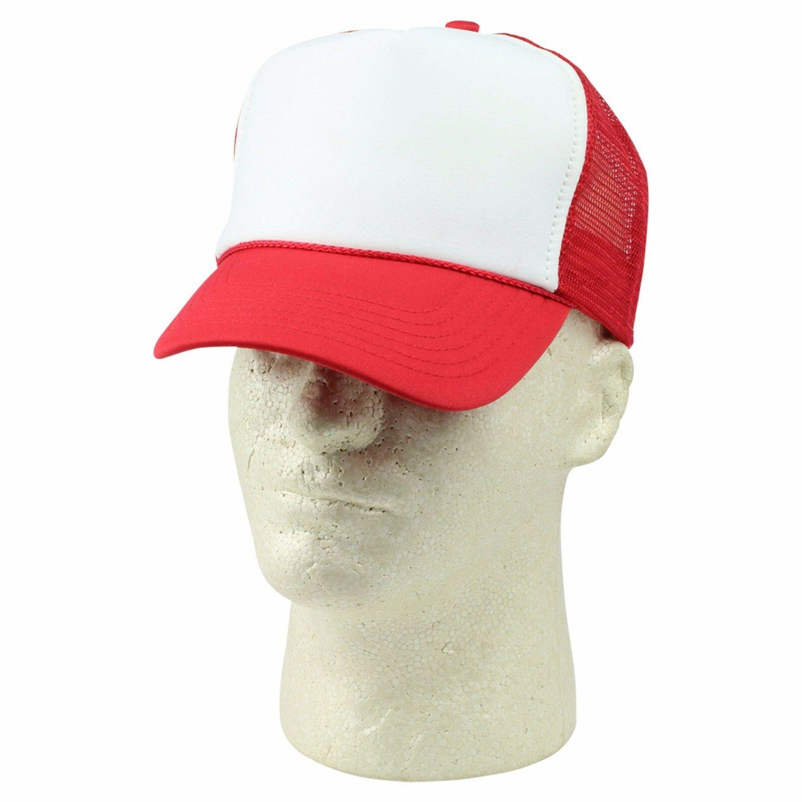 DALIX Handy Manny Hat Red White Kids Youth Trucker Shipping