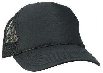 DALIX Plain Trucker Hat in Black