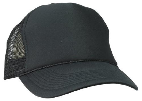 DALIX Plain Trucker Hat in Black