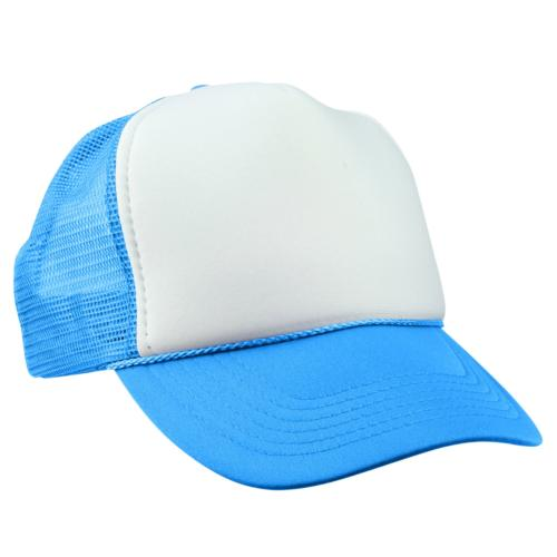 DALIX Trucker Cap Neon Blue Hat for Boys Youth Baseball Caps