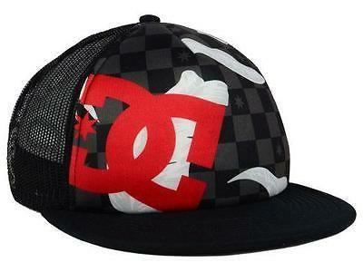DC Shoes Lanai Checkered Trucker Mens Black Red Snapback Hat