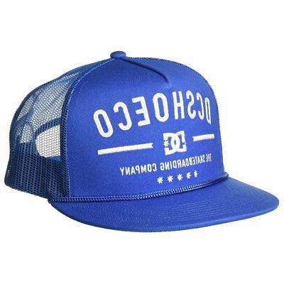 DC Shoes Men's Wall Bitten Trucker Snapback Hat Blue Basebal