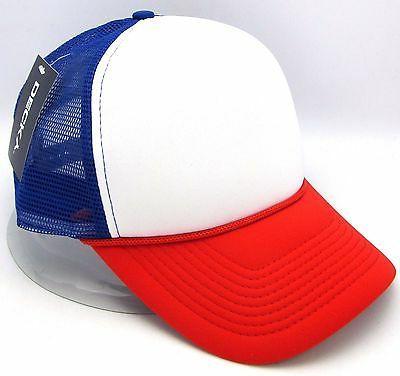 DECKY Snapback Cap USA Red White Blue Foam Mesh Trucker Hat