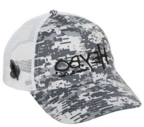 HEYBO Digital Camo Fly Fishing Mesh Backed Trucker Hat Mens