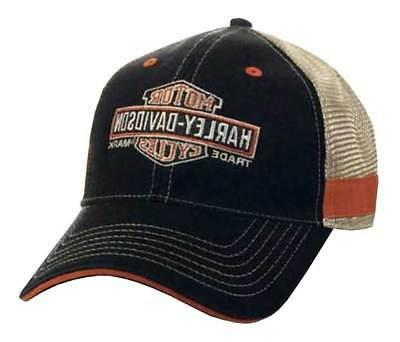 Harley-Davidson Men's Embroidered Long Bar & Shield Mesh Tru