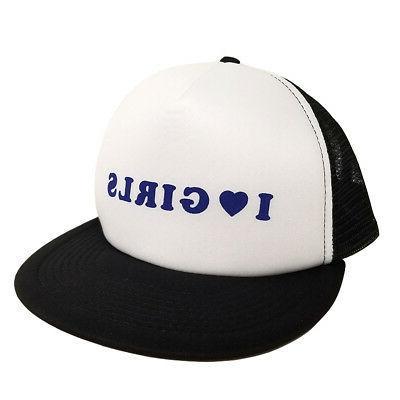 I Heart Girls Trucker Hat Lilyhammer Torgeir Lien Cap Love T