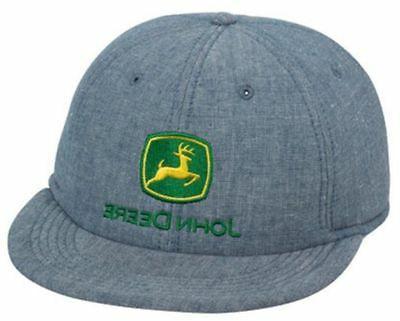 JOHN DEERE *DENIM FOAM TWILL TRUCKER* Trademark Logo HAT CAP