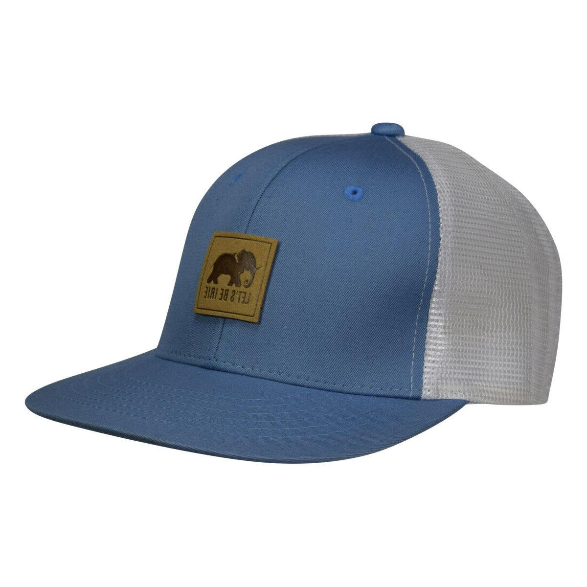 LET'S BE IRIE Elephant Trucker Hat - Blue and White Snapback