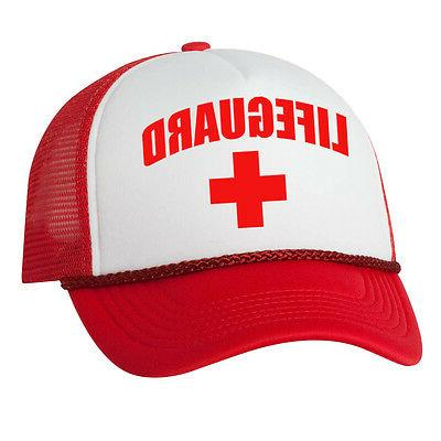 LIFEGUARD Red Cap pool guard Cosplay Trucker Mesh Hats Hallo