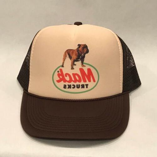 Mack Trucks Trucker Hat Brown Bulldog Vintage Style Snapback Cap