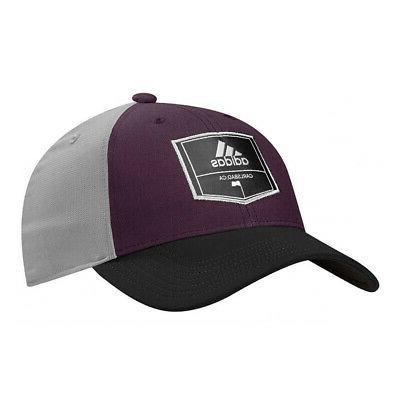 NEW Adidas Golf Purple/Grey/Black Patch Trucker Adjustable H
