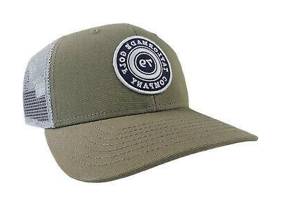 NEW TaylorMade Trucker Snapback Olive Green Grey Adjustable Hat Cap 0311c00c4e0