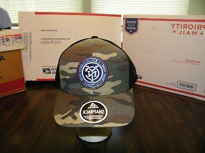 NEW YORK CITY FC ADIDAS SNAPBACK CAMO TRUCKER CAP HAT OFFICI