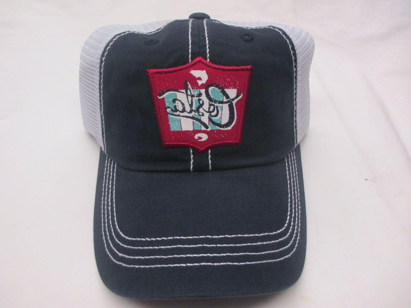 New Costa Del Mar Trucker Hat With Patch    Navy with White