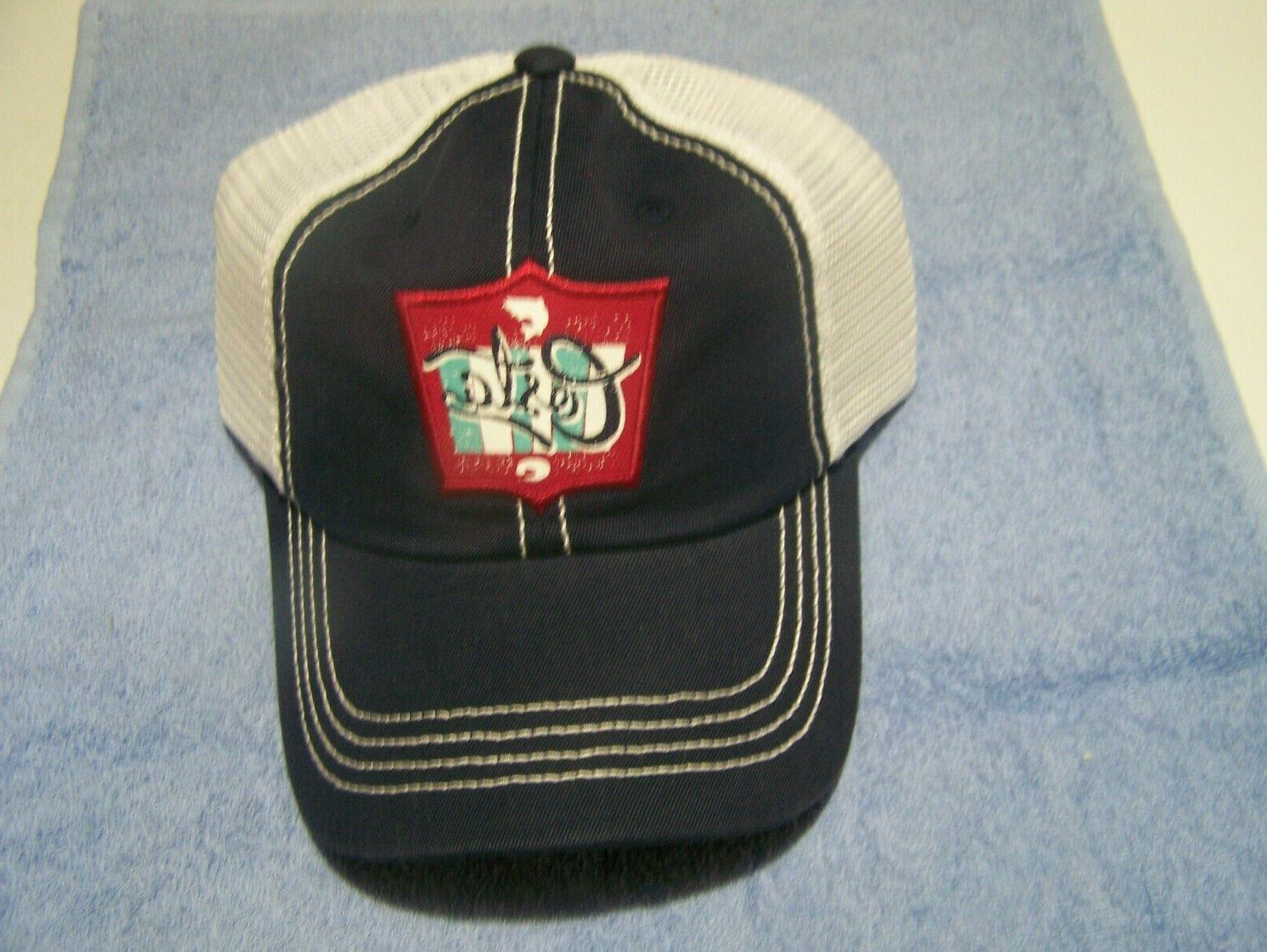 New Mar Trucker Hat Navy with White