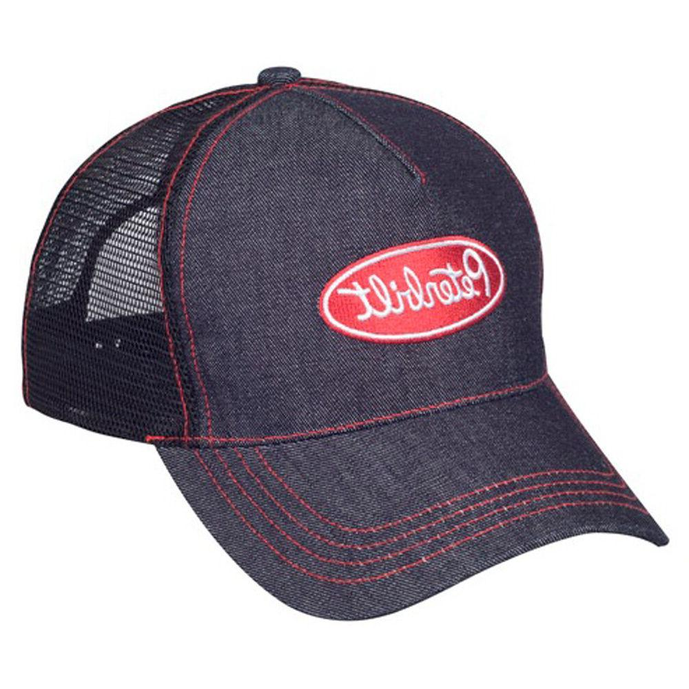 Peterbilt Trucks Motors Dark Denim Mesh Snapback Trucker Cap
