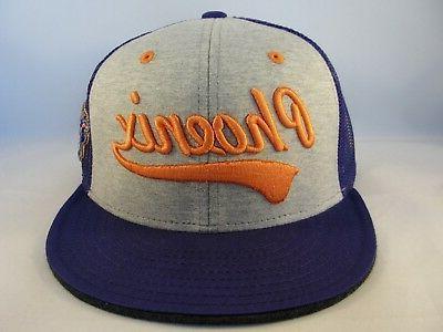 Phoenix Suns NBA Adidas Trucker Snapback Hat Cap Gray Purple