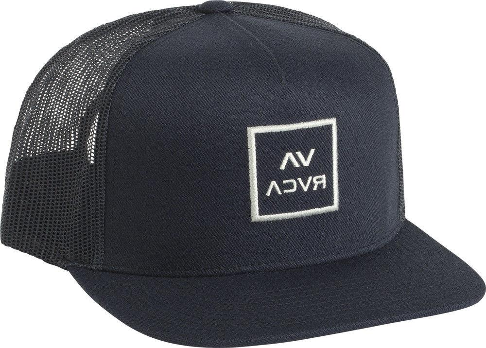 RVCA All the Way Trucker Hat Navy Blue White Snap Back Cap S