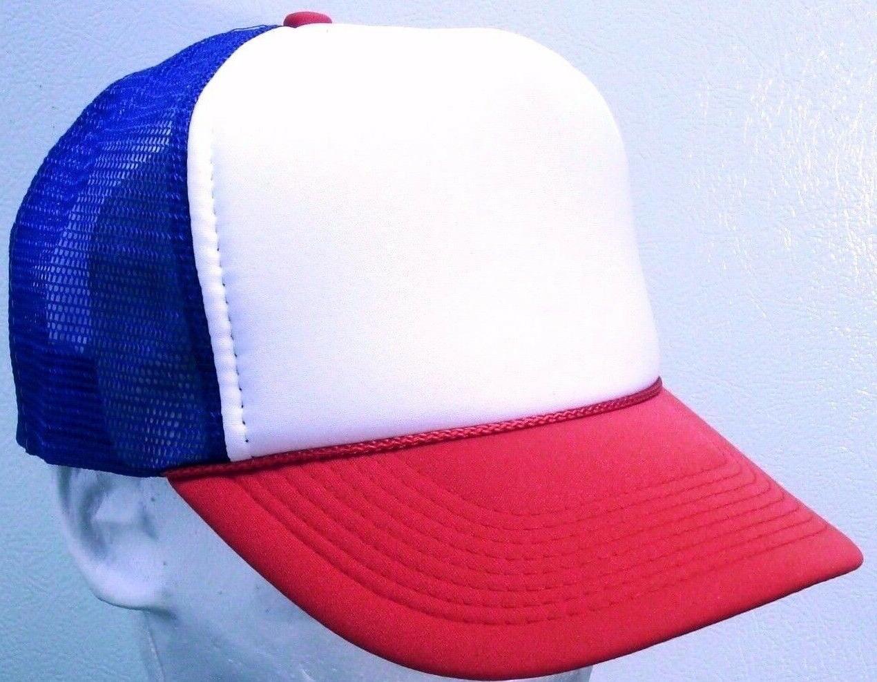 STRANGER THINGS Red White Blue Hat 80s Mesh Dustin