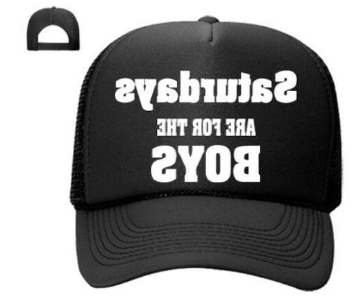 Satudays Are For The Boys Trucker HAT Snapback Mesh Cap Tren