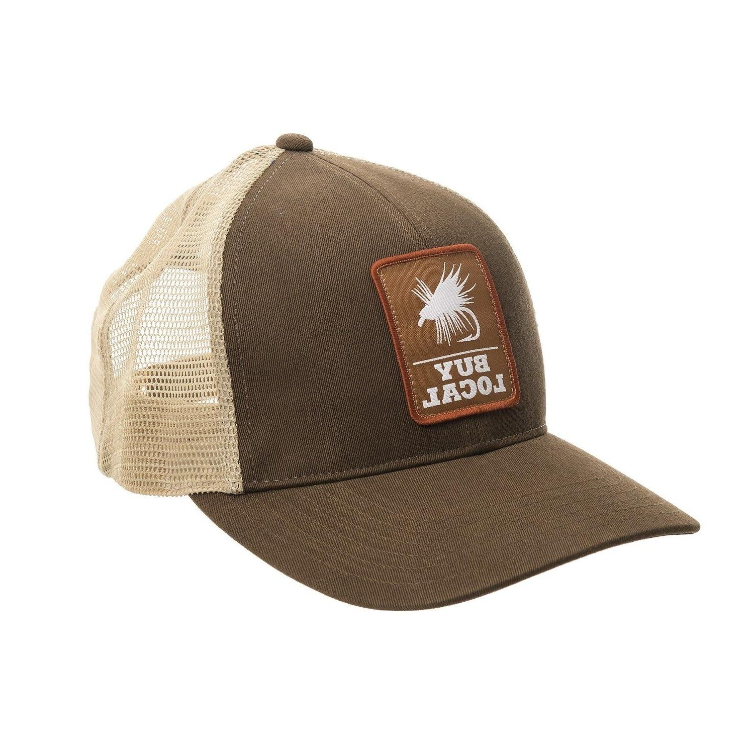 f64288b453262 Simms Fishing Buy Local Trucker Patch Hat Cap Simms Acorn Co