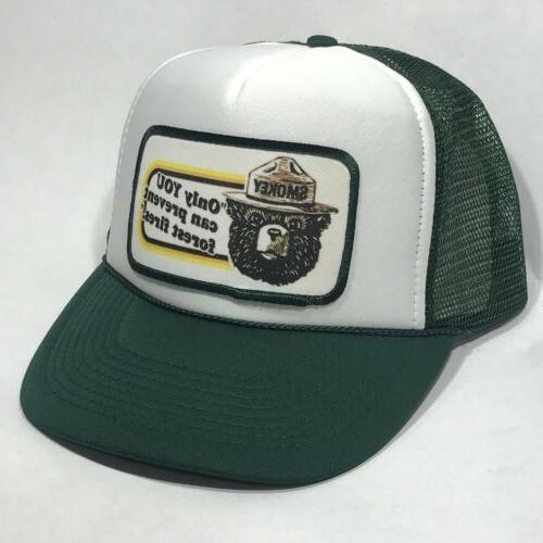 Smokey Bear US Forest Fire Service Trucker Hat Only You Vint