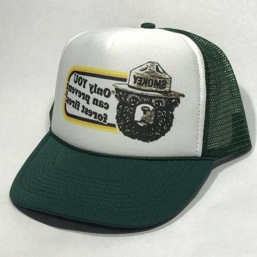 Smokey Bear US Park Service Mascot Trucker Hat Only You Vint