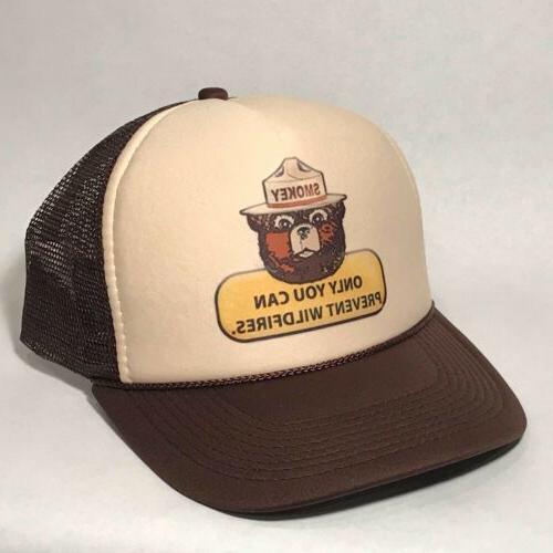Smokey The Bear US Forest Service Mascot Trucker Hat Only Yo