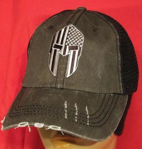 Spartan Helmet DARK EYES  Baseball Ball Cap USA Flag Cotton